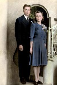 Harold and La Vera Gisselman on their wedding day
